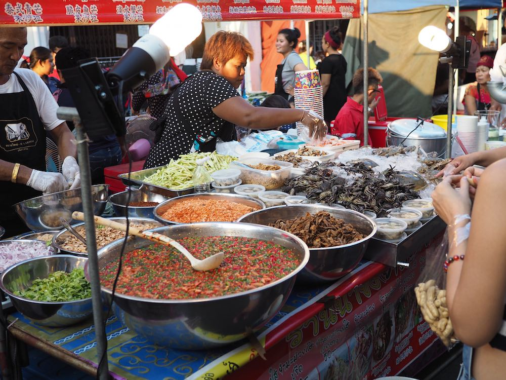 Food stall at Thalang Road Market