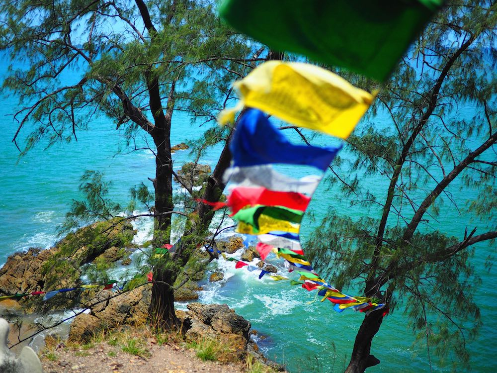 Prayer flags on Hornbill Hill