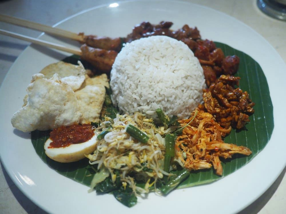 A plate of Nasi Campur
