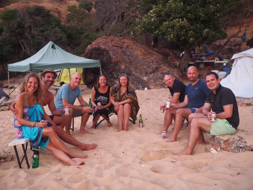 Our beach camp mates
