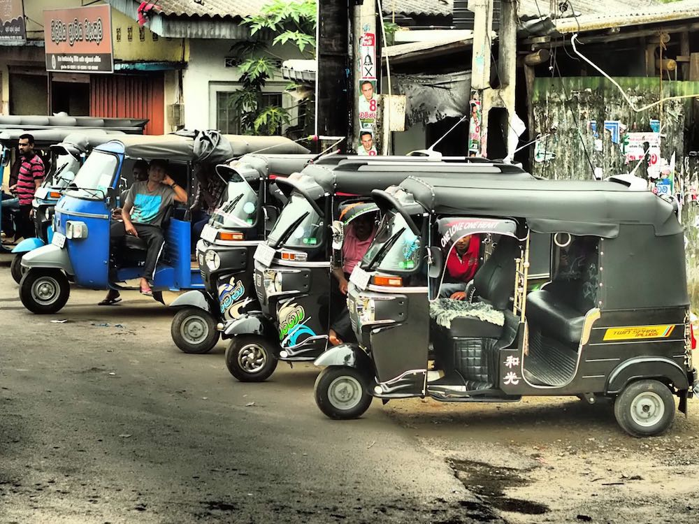 A row of tuk-tuks