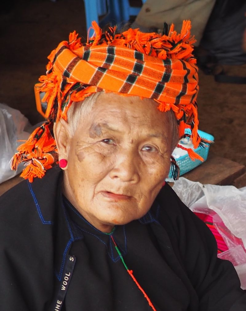 An elderly lady from the Pa-O ethnic group