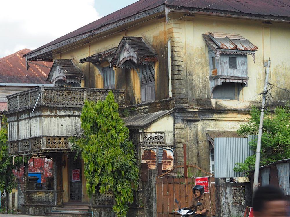 Crumbling colonial building