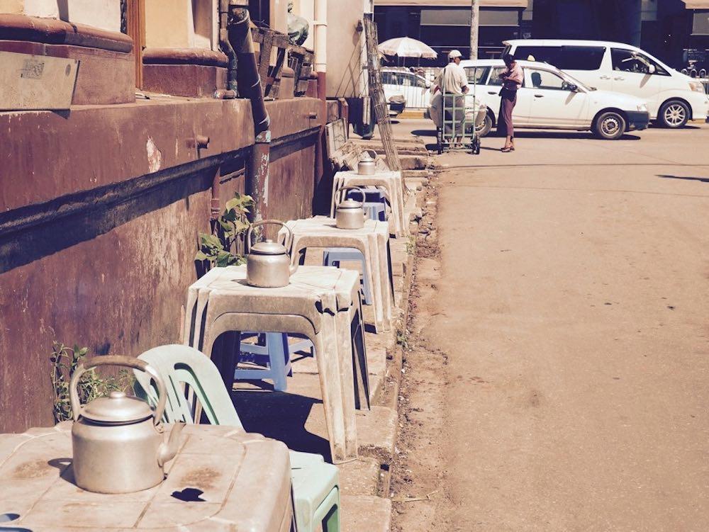 Free tea in Yangon