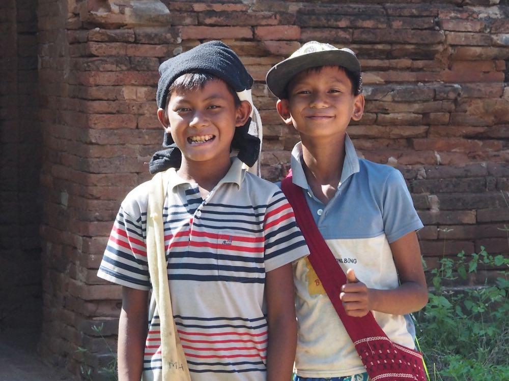 Two boys in Bagan