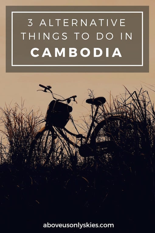 A haunting hill station, an underwater light show and pedal-powered touring...an alternative Cambodia