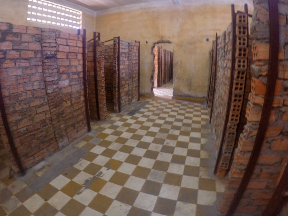 Holding cells at Tuol Sleng