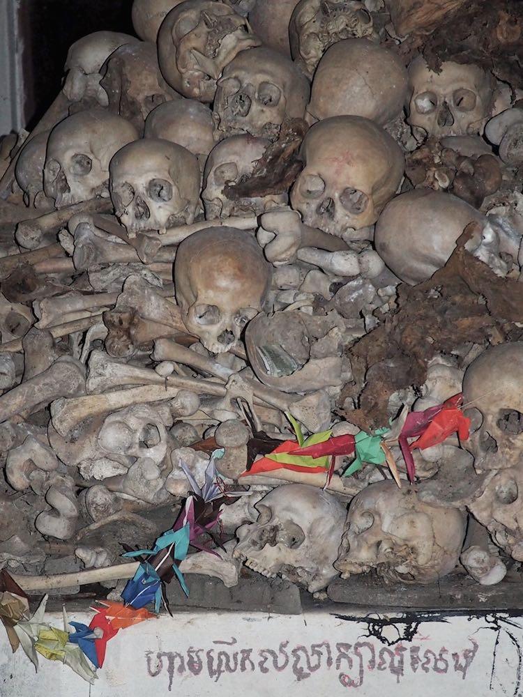 Skulls at Phnom Sampeau