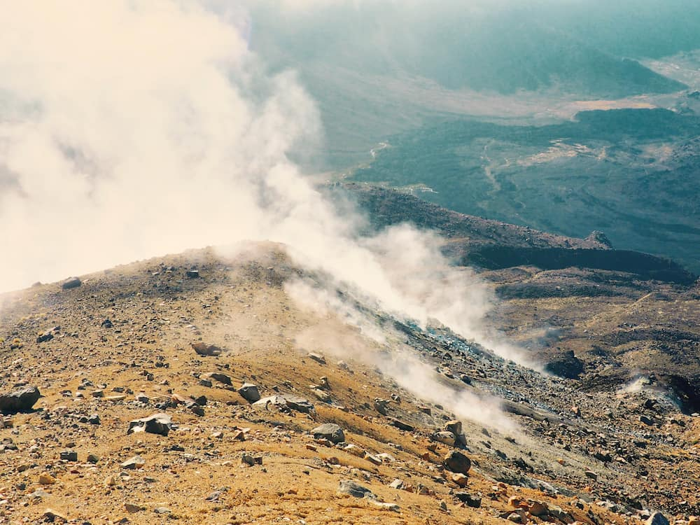Steam fissures - Tongariro Alpine Crossing