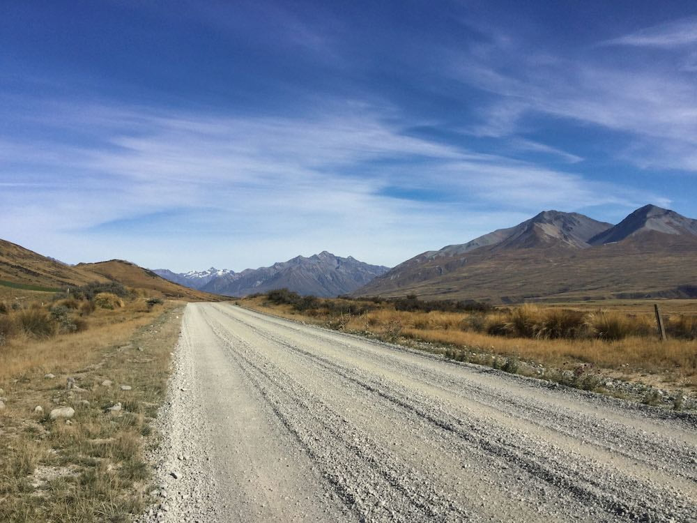 Gravel road to Mount Sunday