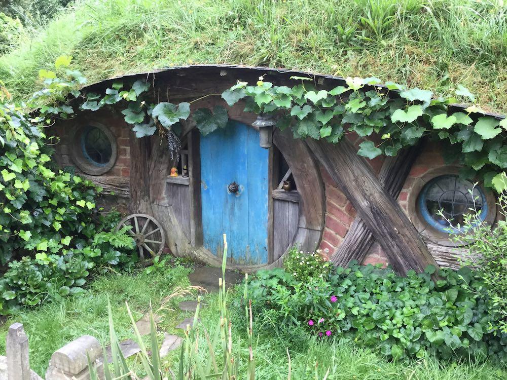 Hobbit House - blue door