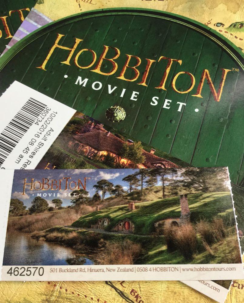 Hobbit Movie Set tickets and brochure