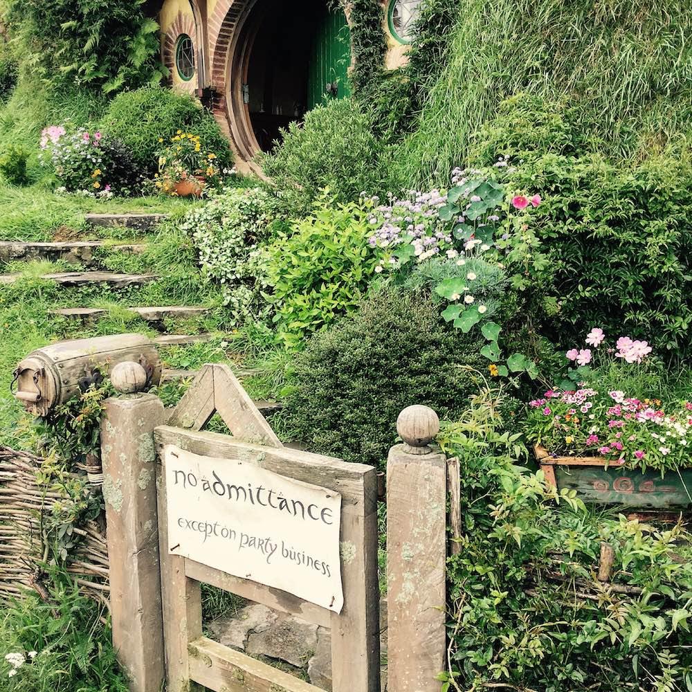 No admittance - the Hobbit house of Bilbo Baggins