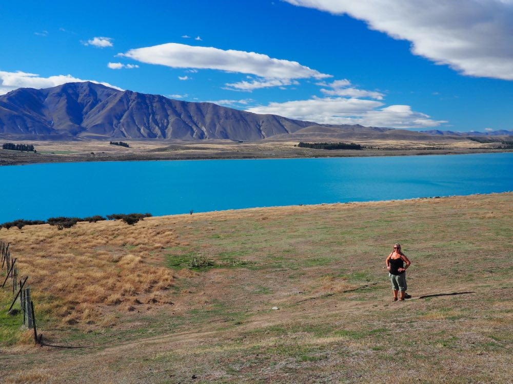 Nicky at Lake Tekapo