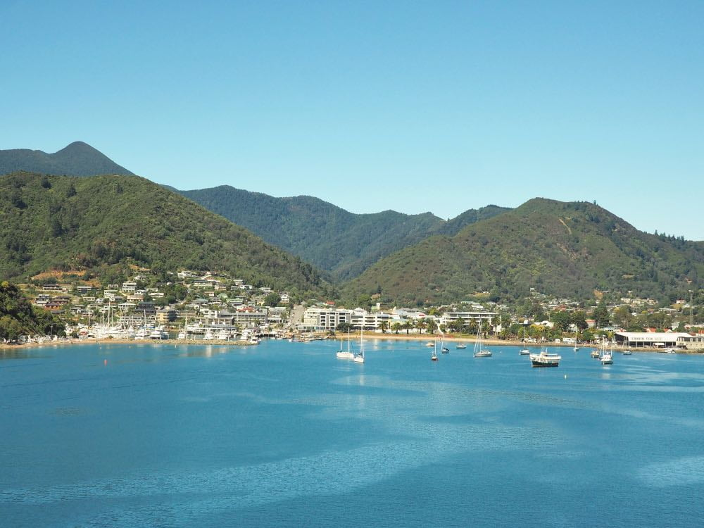 View of Picton on approach from ferry