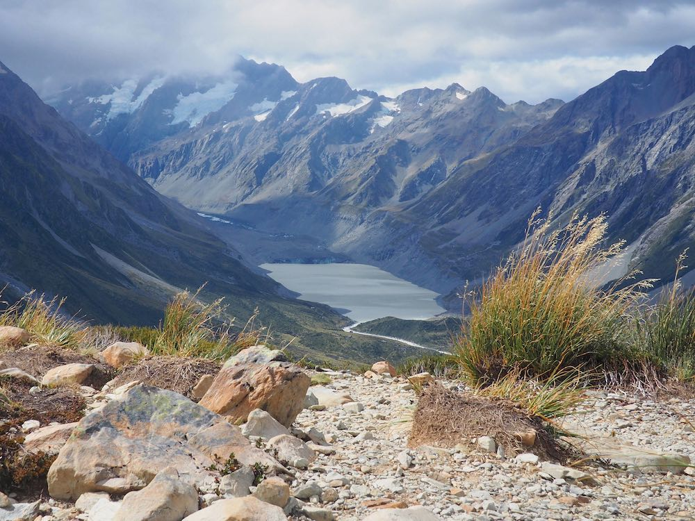 View of Mount Cook National Park from Sealy Tarns