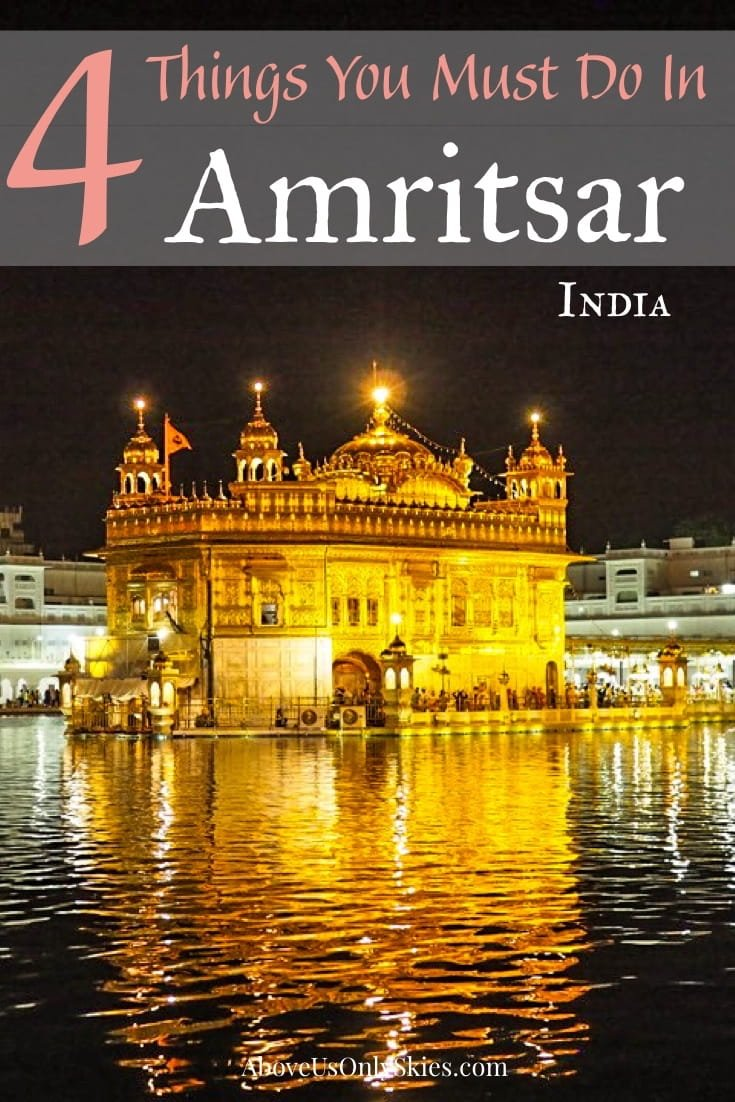 If you are visiting Punjab here are four things to do in Amritsar - including a spectacular temple, a turning point in history, cabaret at the border and breakfast nirvana #amritsar #indianarmy #indiatravel #indiatourism #indiatravelguide #sikhism #goldentemple #goldentempleamritsar #punjabi #jallianwalabagh #indiapakistan #indianfood #punjabifood