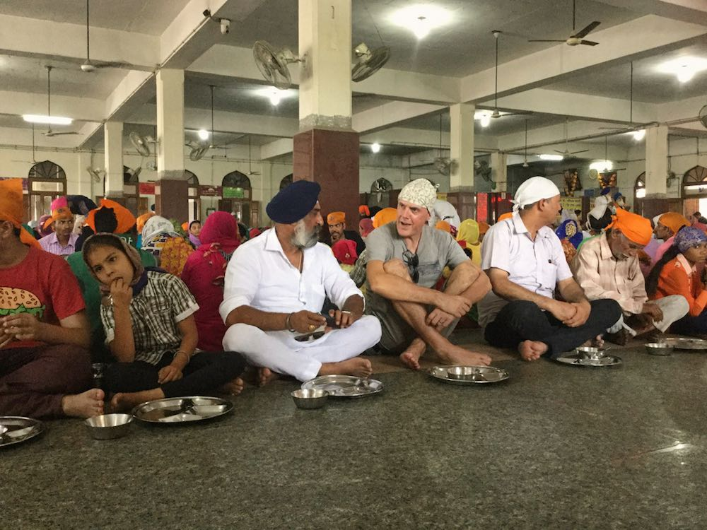 Waiting to eat at Guru Ka Langar