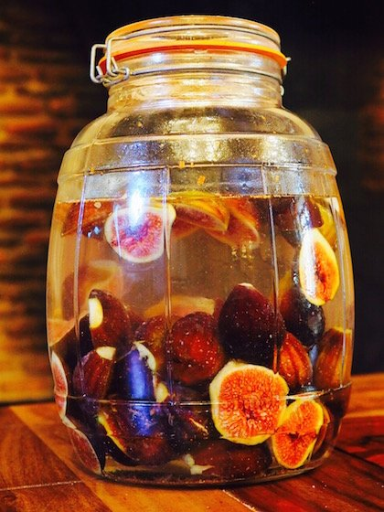 Figs and vodka in a jar