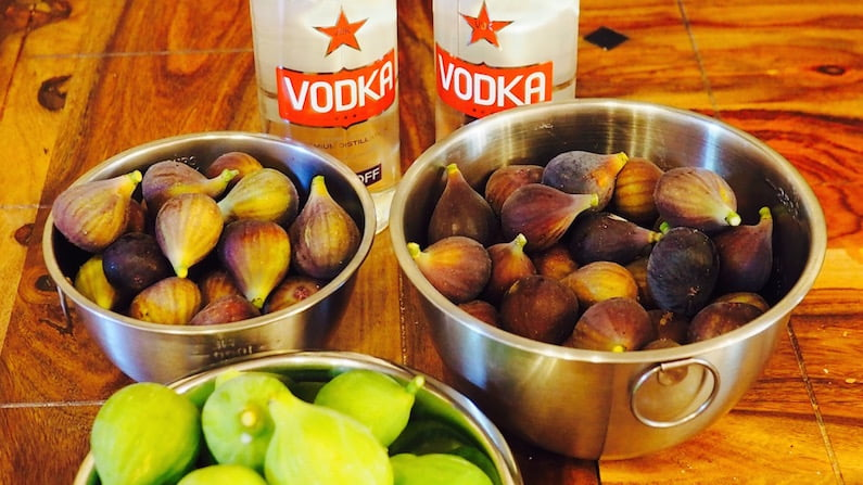 Figs and vodka