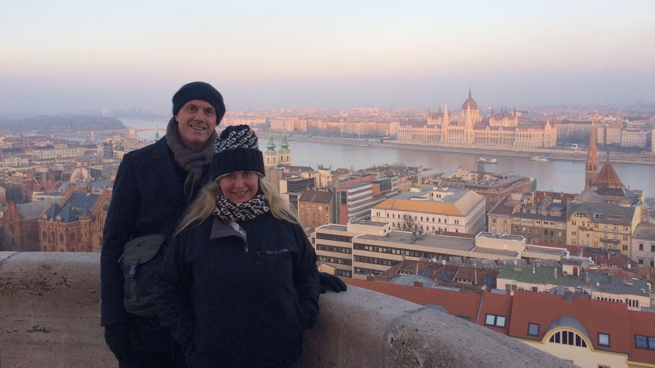 Ian and Nicky in Budapest