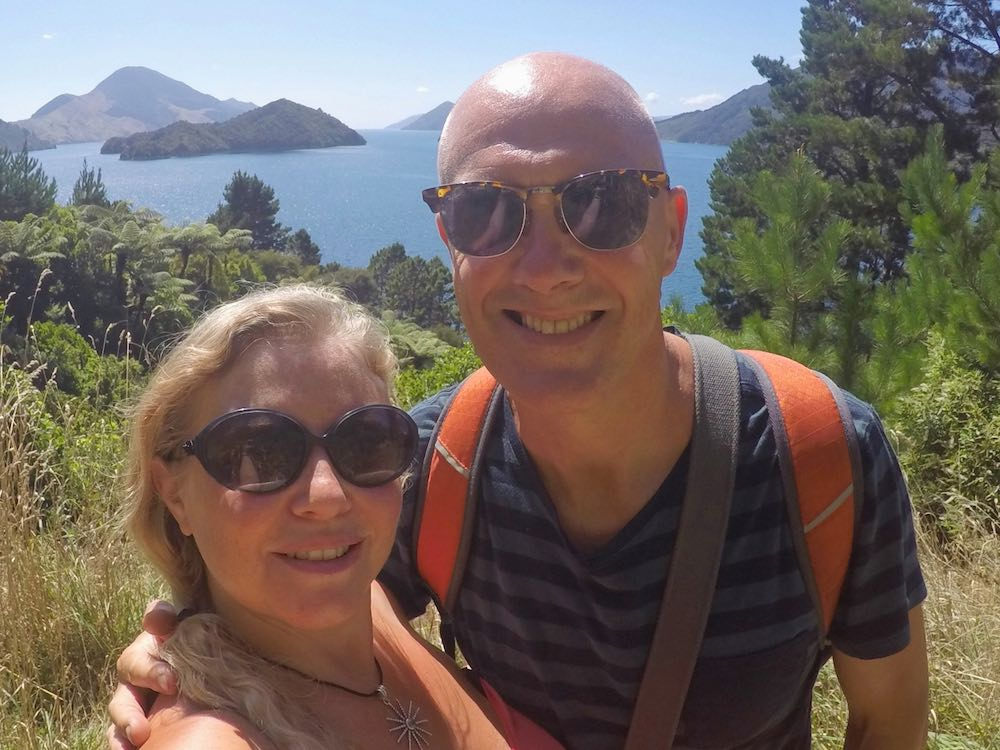 Ian and Nicky in Marlborough Sounds