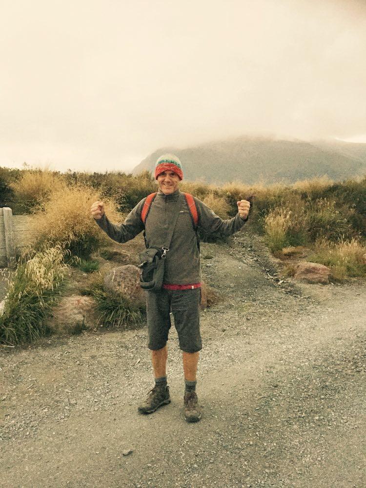 Ian at the start of the Tongariro Alpine Crossing