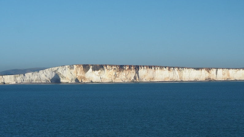 The chalk cliffs of England's south coast