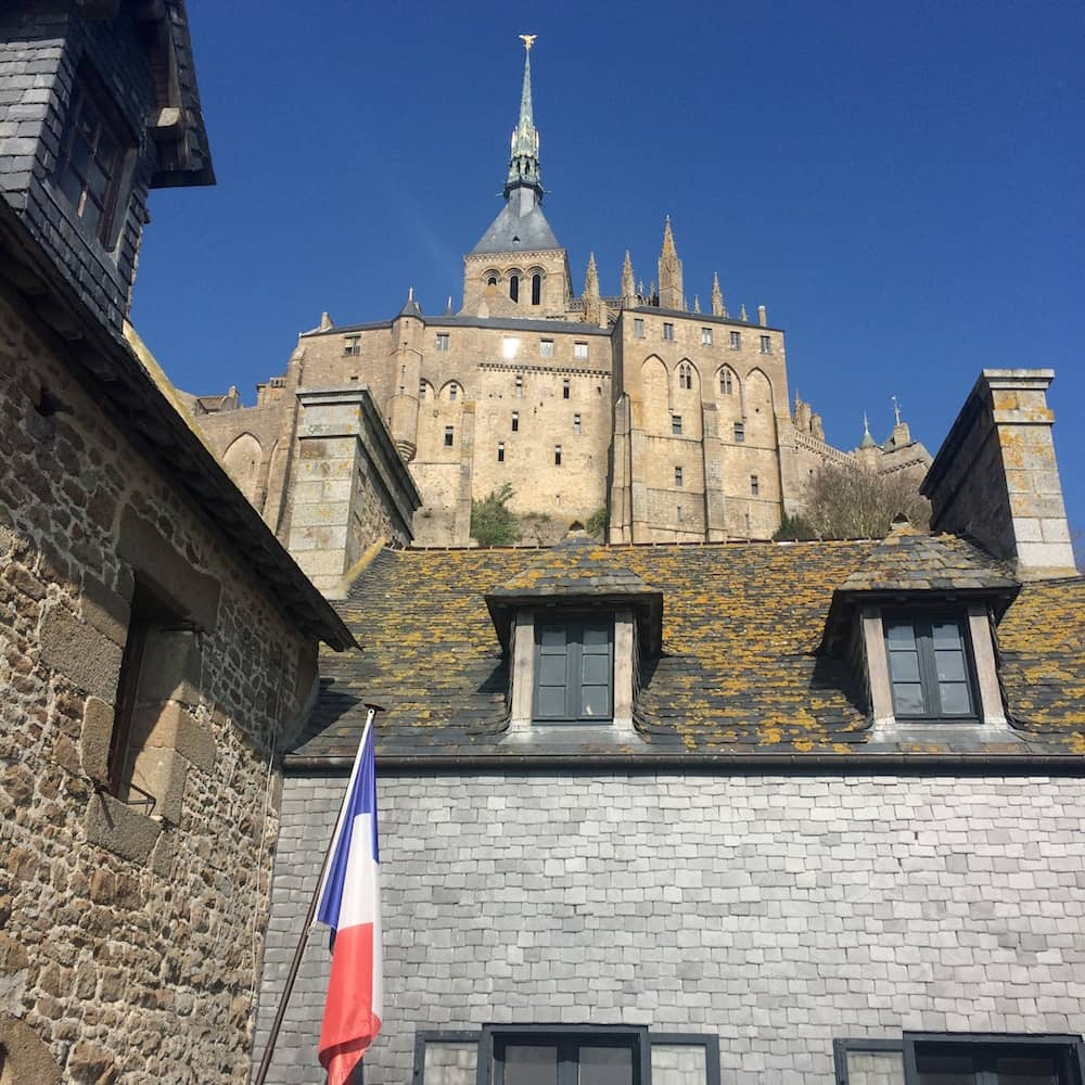 View of the monastery from the ramparts - Le Mont Saint-Michel