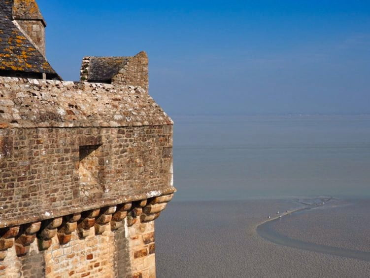 Le Mont Saint-Michel - looking out to sea from the ramparts