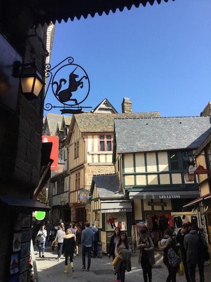 Le Mont Saint-Michel - the village