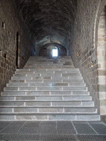 Le Mont Saint-Michel - inside the Abbey