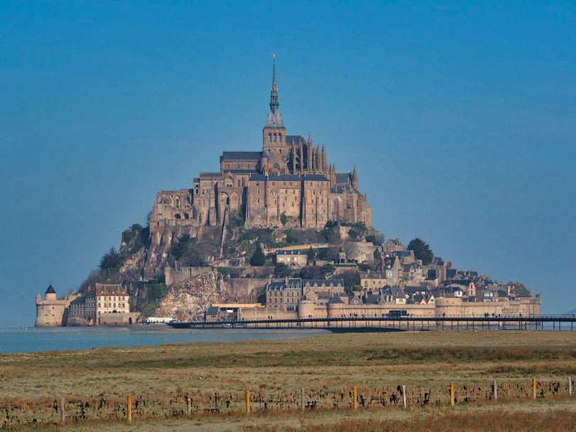 Le Mont Saint-Michel - view from the boardwalk