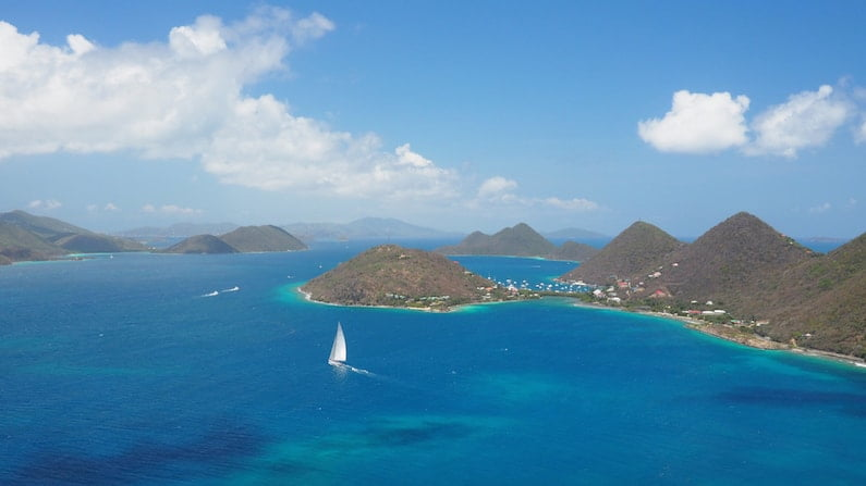POSTCARD FROM THE BRITISH VIRGIN ISLANDS