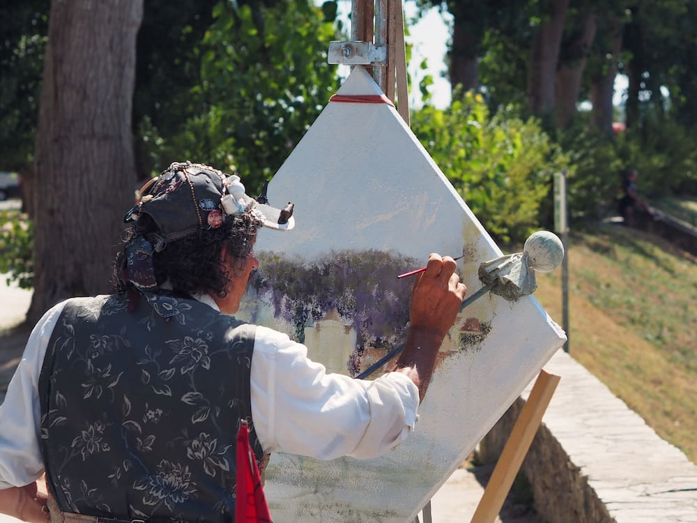 An artist in Dordogne