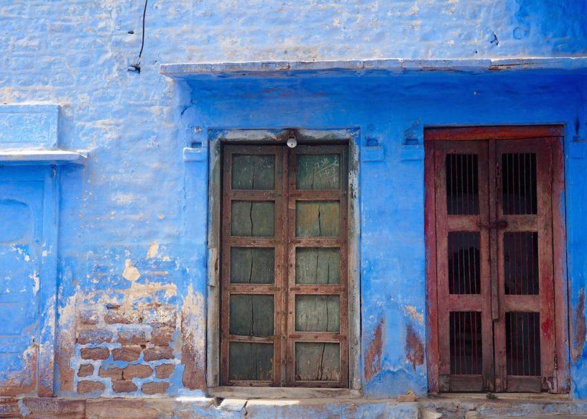 Iconic blue houses in Jodhpur, Rajasthan