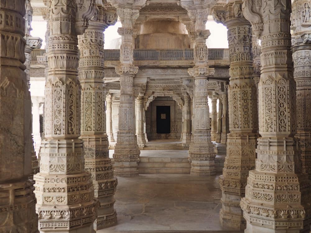 Inside the Jain Temple of Ranakpur