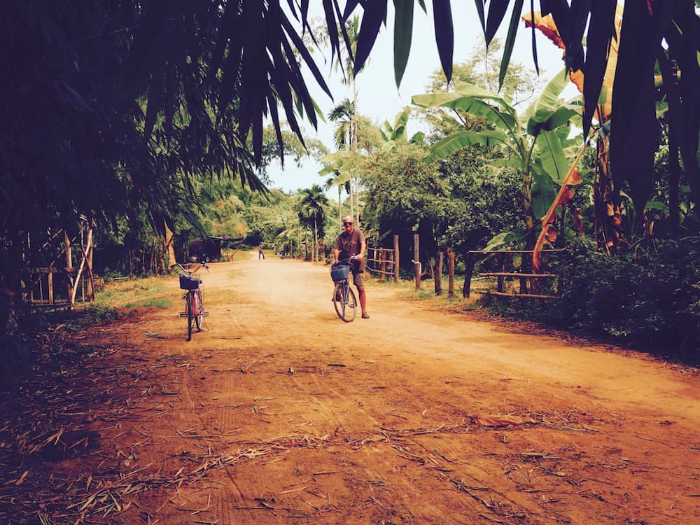 Ian cycling on Koh Trong