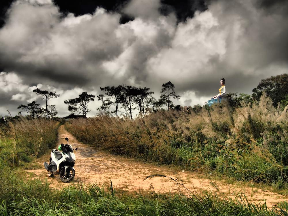 Scootering on Bokor Hill