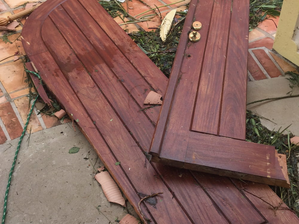 Doors ripped from their hinges by Irma