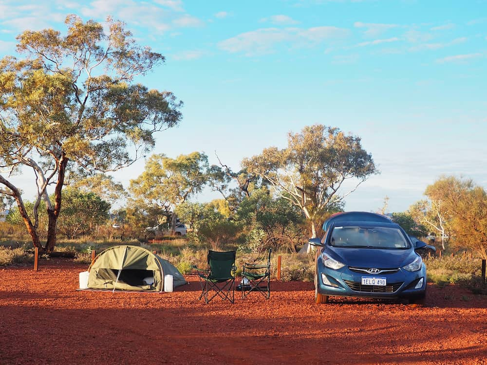 Campsite in Karijini National Park