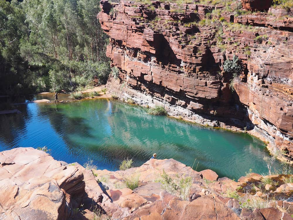 A view looking away from Fortescue Falls
