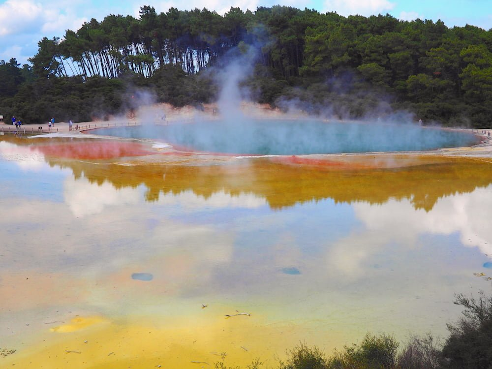 Gases arise from thermal hot pool