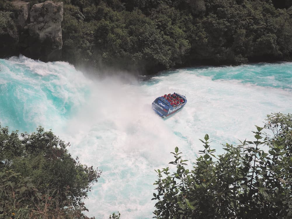 Speedboat at Huka Falls