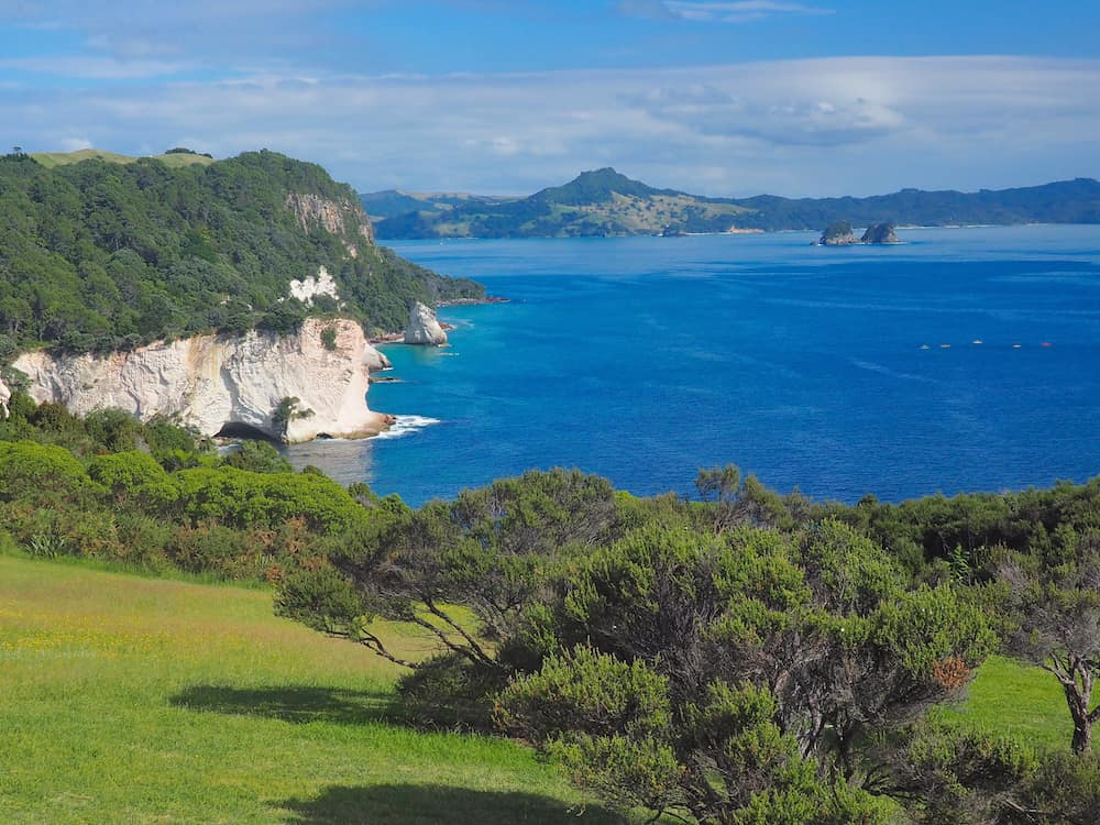 View from Hahei to Cathedral Cove