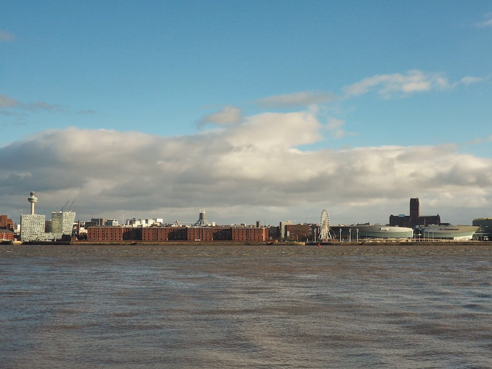 Liverpool skyline from the ferry