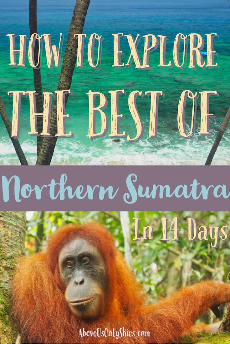 It can be a challenge to travel around wild and rugged northern Sumatra - but here's a 14-day itinerary designed to explore the best it has to offer #sumatra #sumatratravel #indonesiatravel #BandahAcehTravel #orangutan #ResponsibleTravel #TravelItinerary
