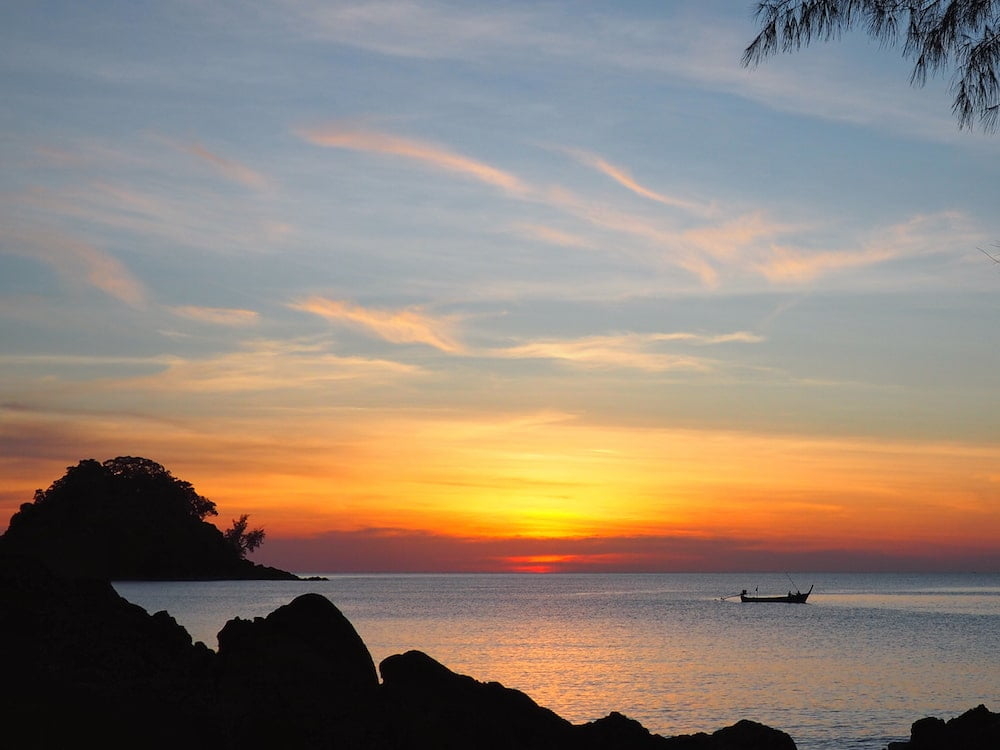 Sunset over Koh Phra Thong - Andaman Coast Itinerary