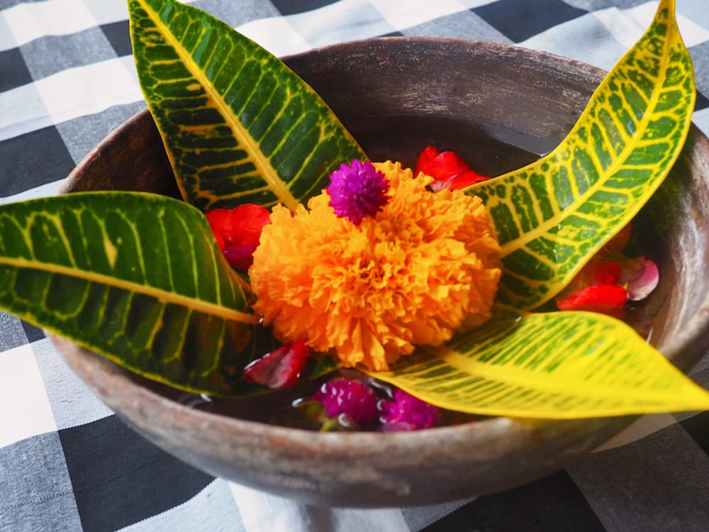 Bowl of flowers - Authentic Bali