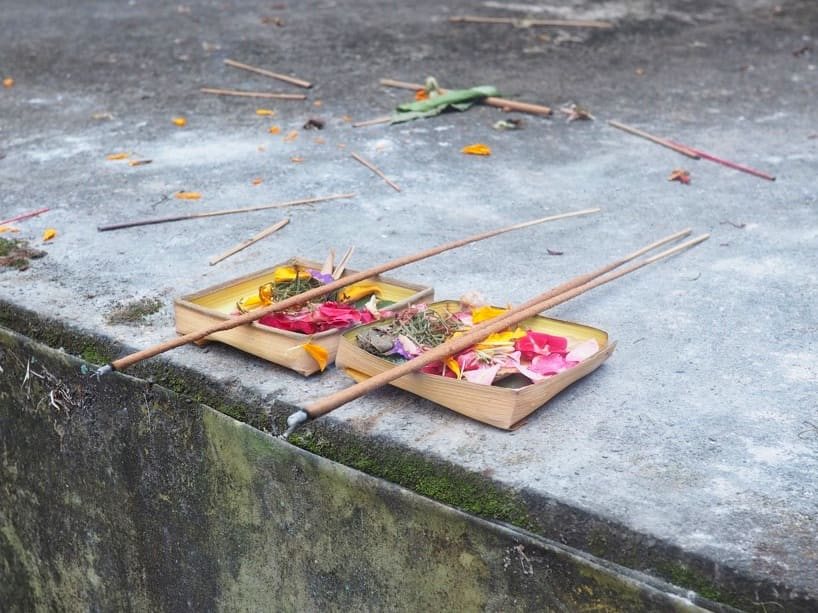 Traditional canang - Hindu offerings